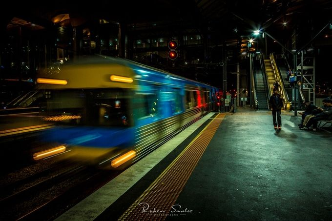 The Night Train by rubensantos - Metro Stations Photo Contest