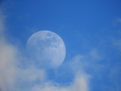 The moon by daylight