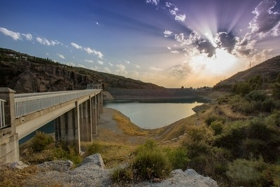 Sunset at Embalse de Canales