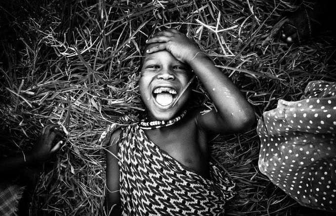 Smile is the key by cristinascollo - A World In Black And White Photo Contest