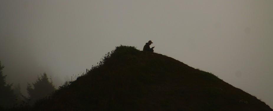 Foggy coastal hilltops in Northern California.