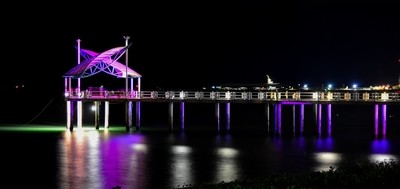 Townsville jetty at Night