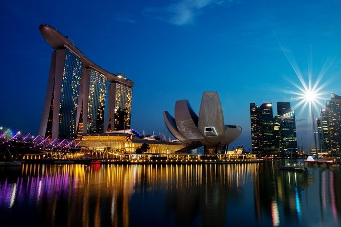 Singapore Marina Bay District @ Night by Ckayphotos - Modern Architecture Photo Contest