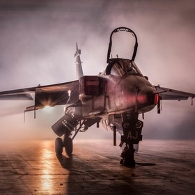 Sepecat Jaguar GR3A  ,captured during a TimeLine Events photoshoot in conjunction with the RAF