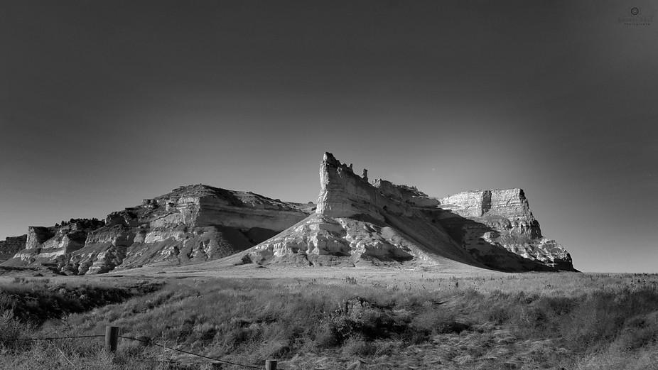 A standalone plateau south of Scottsbluff, Nebraska, US.