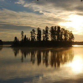 Just another beautiful evening in the BWCA.