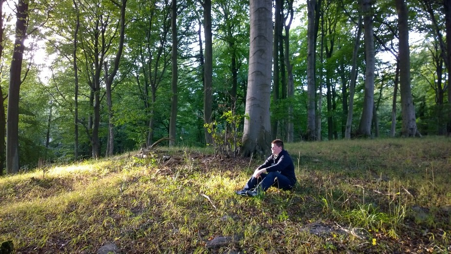 This photo was taken during a trip to Sassnitz, Germany and we went hiking in the woods on the ed...