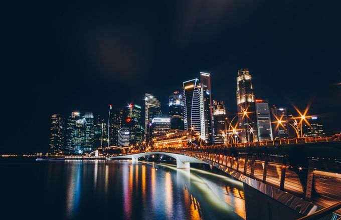Singapore Skyline  by prodaniel - City In The Night Photo Contest