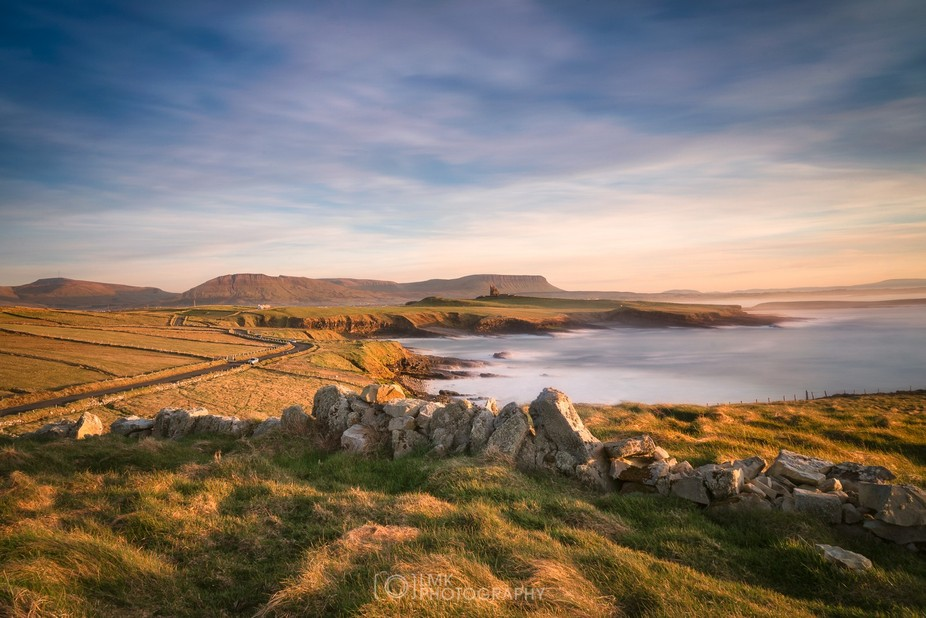 Mullaghmore peninsula in County Sligo, Ireland. Characterised by ocean views and a skyline domina...