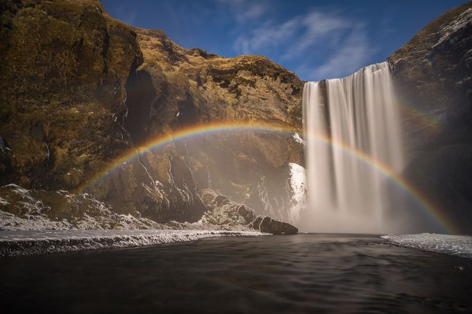 Skogafoss rainbow by strOOp - Curves And Compositions Photo Contest
