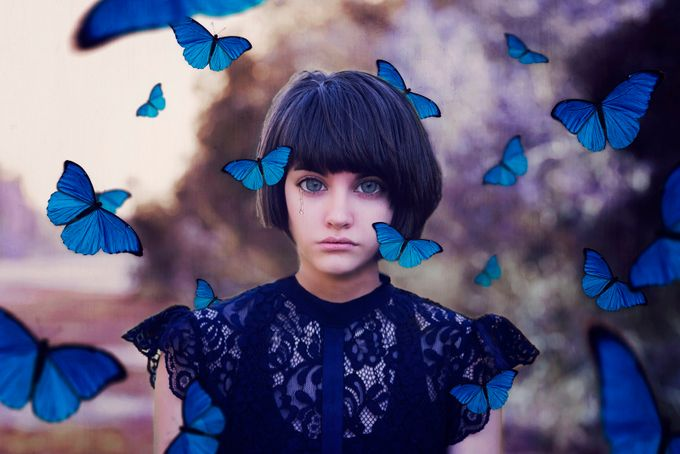 Butterfly Blues by ChrystalOlivero - The Magic Of Editing Photo Contest