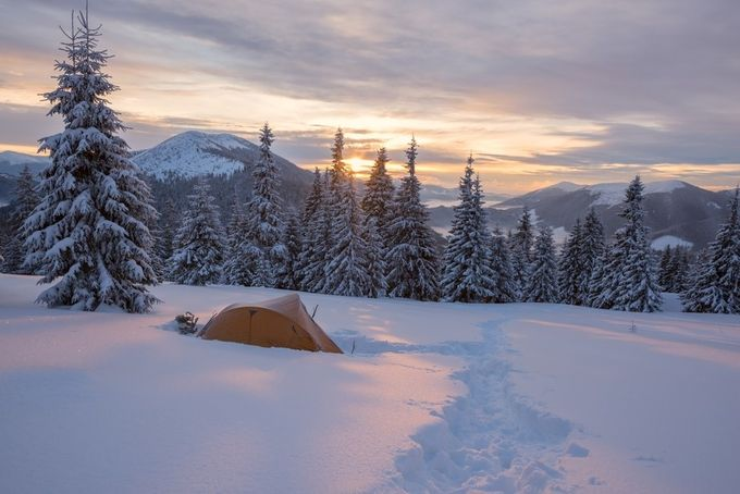 Winter adventure by sanyasadovnykova - Outdoor Camping Photo Contest