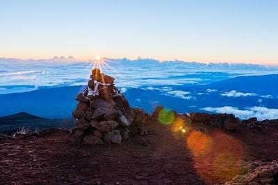 "Sunrise at ""Piton des Neiges"" Reunion Island"