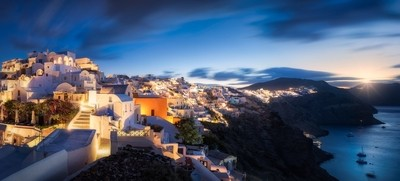 Oia's Early Sunrise