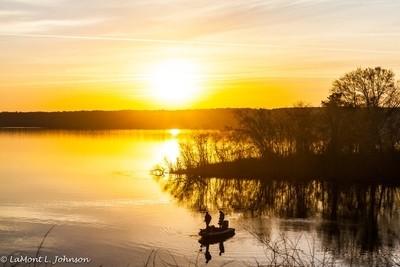 Fishing At Sunrise by LaMont L. Johnson_WM-5831