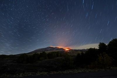 March 26, 2017. Etna, lava front