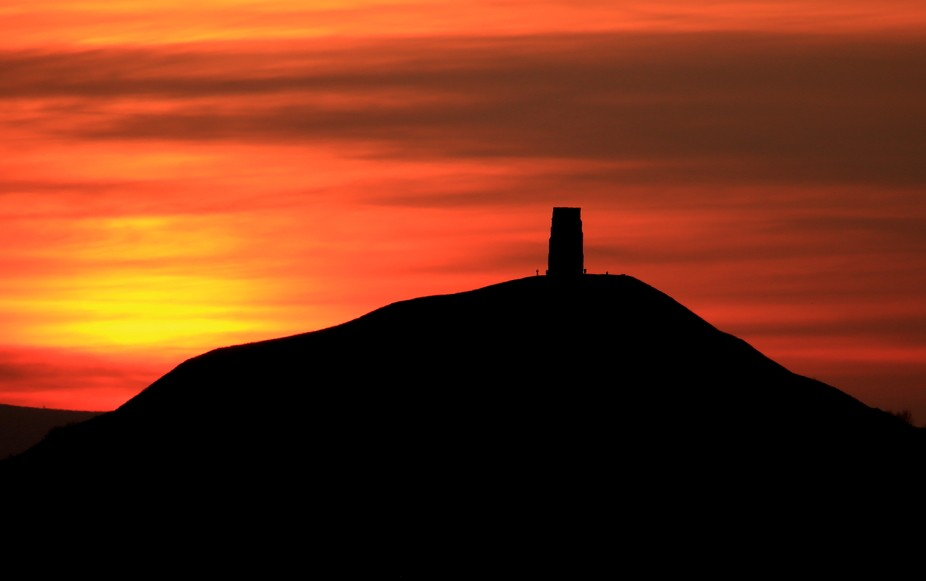 Sunset at Glastonbury