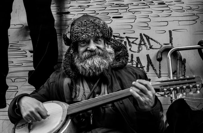 old man by ygtctn - Musical Instruments Photo Contest