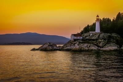 Sunset on Vancouver Lighthouse