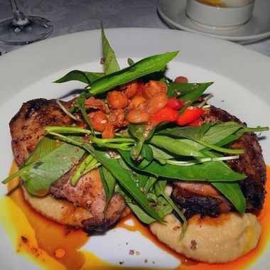 Char grilled Chicken, Garden Leaves, cherry Tomatoes