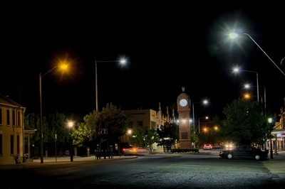 Clock roundabout Mudgee NSW Australia.