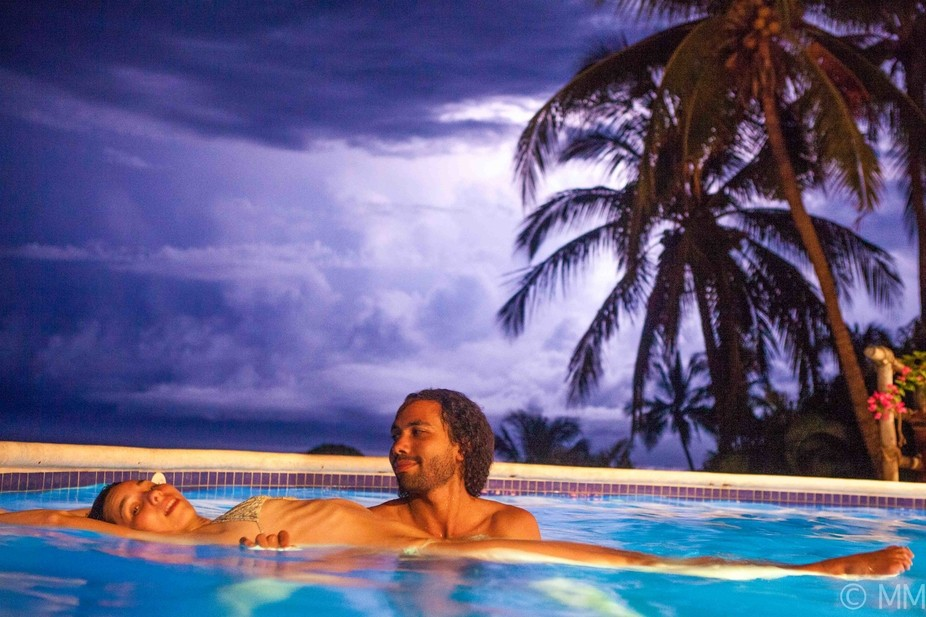 IN a pool onn a cleff in Careyes Mexico and a storm rolled in so I grabbed my camera and this wha...