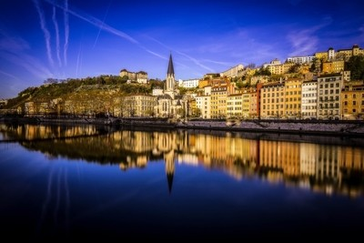 Blue Hour on the Saône at Lyon