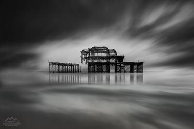 Burned Pier in Brighton
