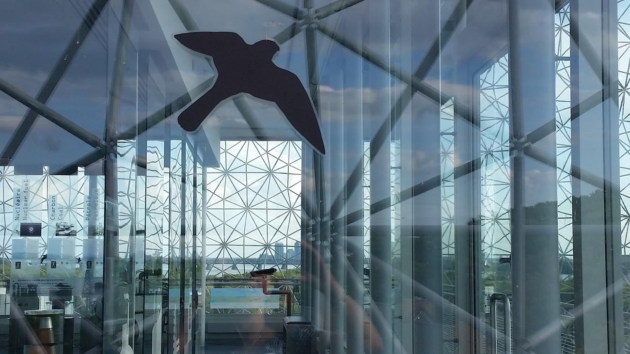Vue de l'intérieur de la Biosphère de Montréal, Québec, Canada