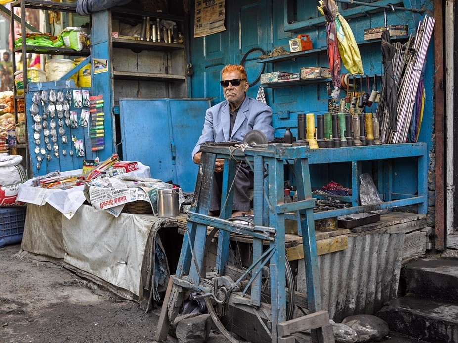 """Let me introduce you to 72 year old Hari Raj, a """"misteri""""who has his stall in the Chogon Sobj..."""