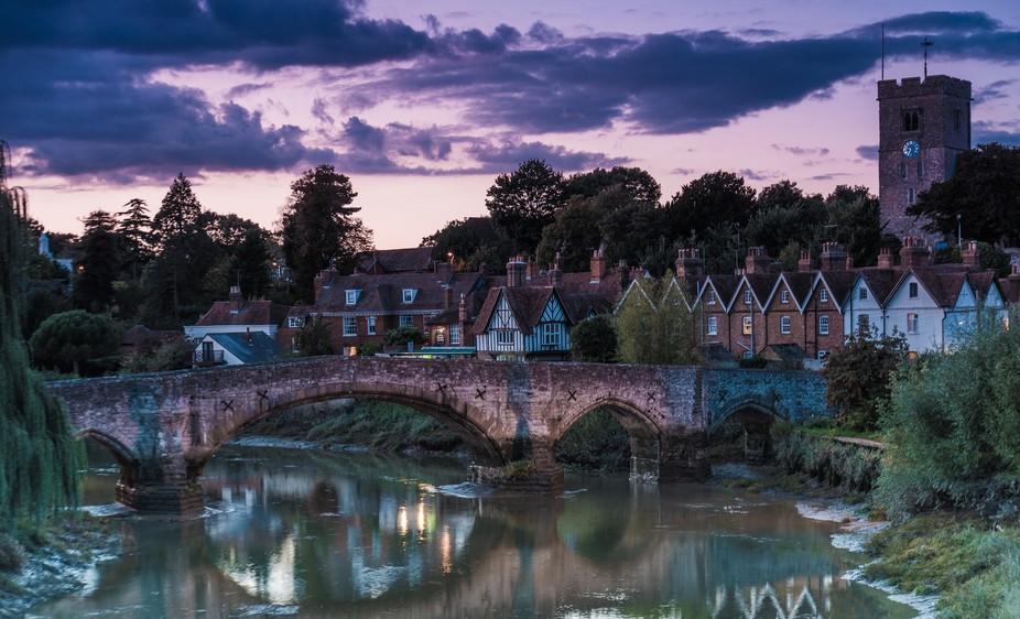 Aylesford Village at sunset