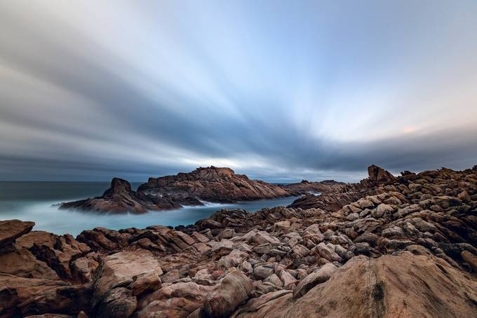 Canal Rocks by Hamster7 - The Moving Clouds Photo Contest