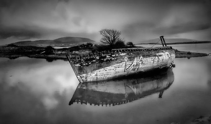 Rosses wreck by avrilglavin - The Water In Black And White Photo Contest