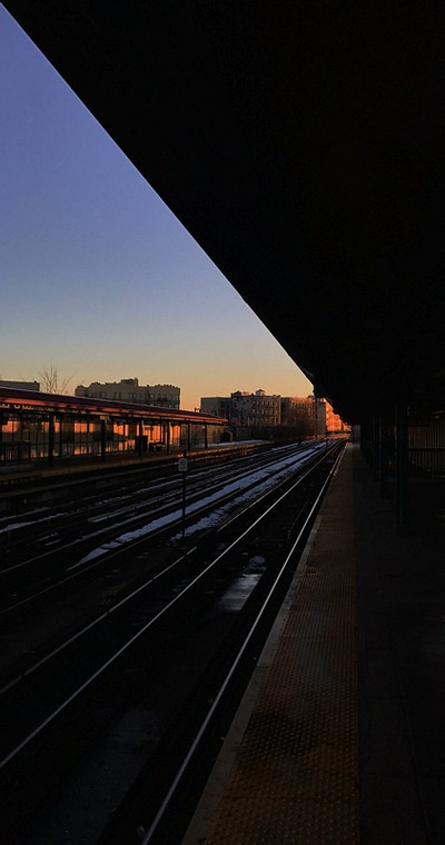 Sunset on the #6 line