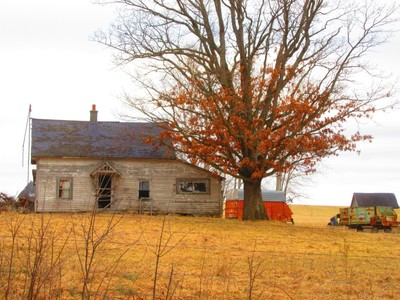 Deserted house and farm