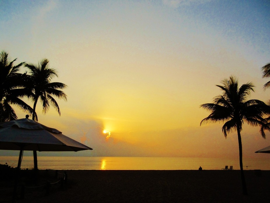 Sunrise (with umbrella)