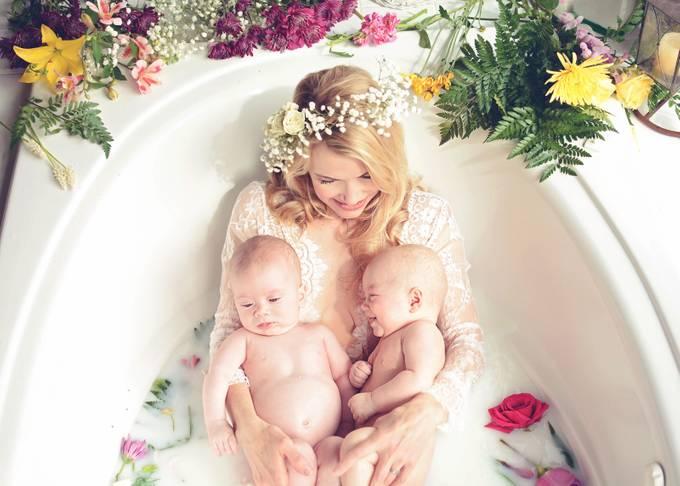Milk Bath by OneWhoHopesPhotography - Motherhood Photo Contest 2017