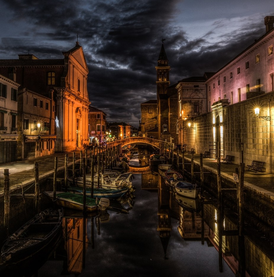 Midnight in Chioggia by filippotrevisan - Our World At Night Photo Contest