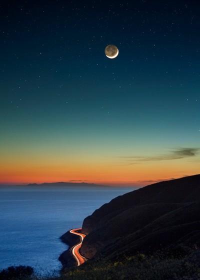 Sunset Meets The Night Sky