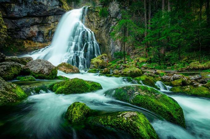 Waterfall Golling  by alex_artes - Streams In Nature Photo Contest