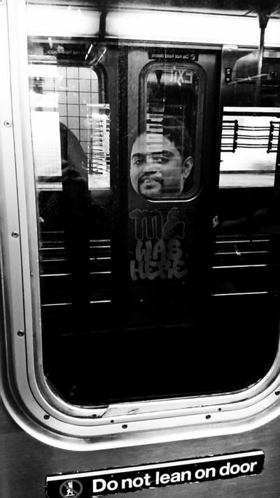 Peek-a-boo - 1 train Manhattan