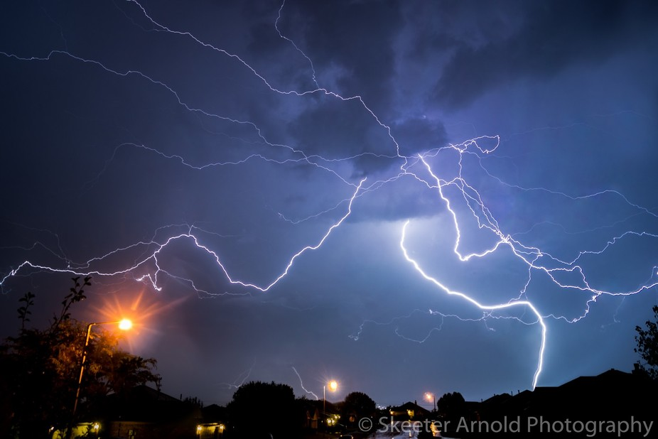 Believe it or not, this is a single shot.  All of the lightning bolts that you see in this shot h...