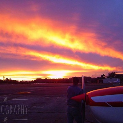 Sunset over an aerodrome in Southern Western Australia #sunset #aerodrome #clouds #cloudsofinstagram #australiagram #focusaustralia #ig_discover_australia #australia_shotz #ig_down_under #ig_creativephotography #instalike #ig_aussiepix #1more_australia #a