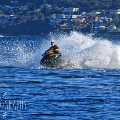 We got to watch this guy in action last night #jetski #water #watersports #spray #sea #discovertasmania #tasmaniagram #hobartandbeyond #instatassie #tassiepics #tassie #hobart #southerntasmania  #tassiestyle #australiagram #focusaustralia #ig_discover_aus
