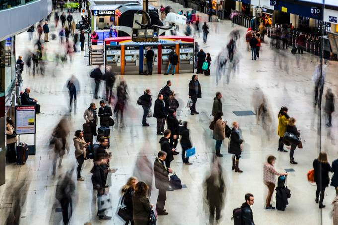 Busy train station by delhunter - Public Transport Hubs Photo Contest