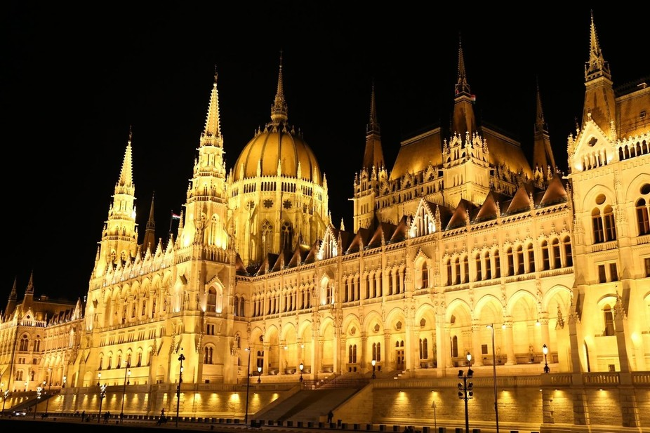 Budapest from the Danube at Night