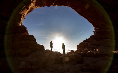 Sun in arch