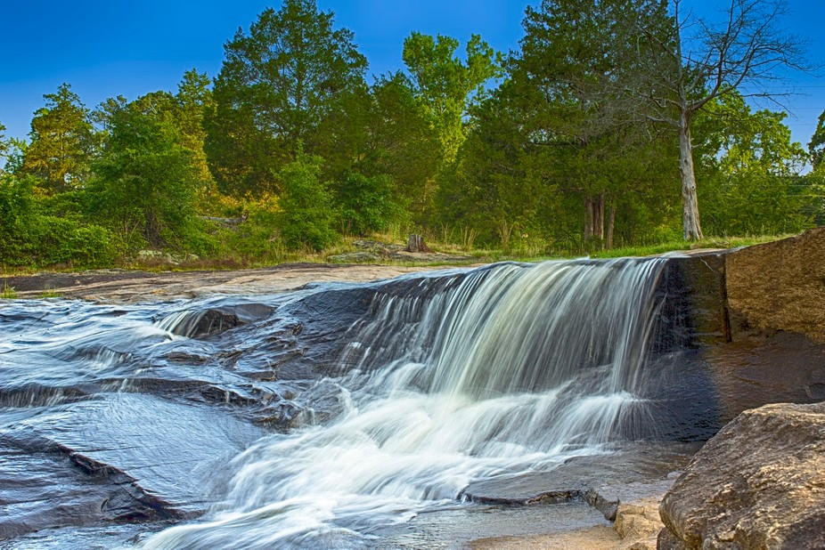 Photo taken at Flat Rock Park, located in Columbus, Georgia. Photo re-done and converted to HDR.