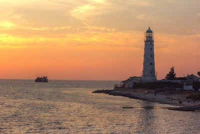 Lighthouse on the black sea