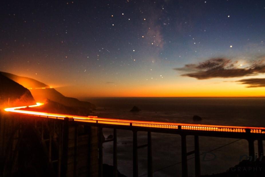 Lingering twilight offerd unique ambient light for exposure